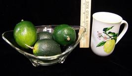 Vintage Glass Oval Footed Fruit Bowl A Shafford Coffee Mug & 4 Artificia... - $11.87