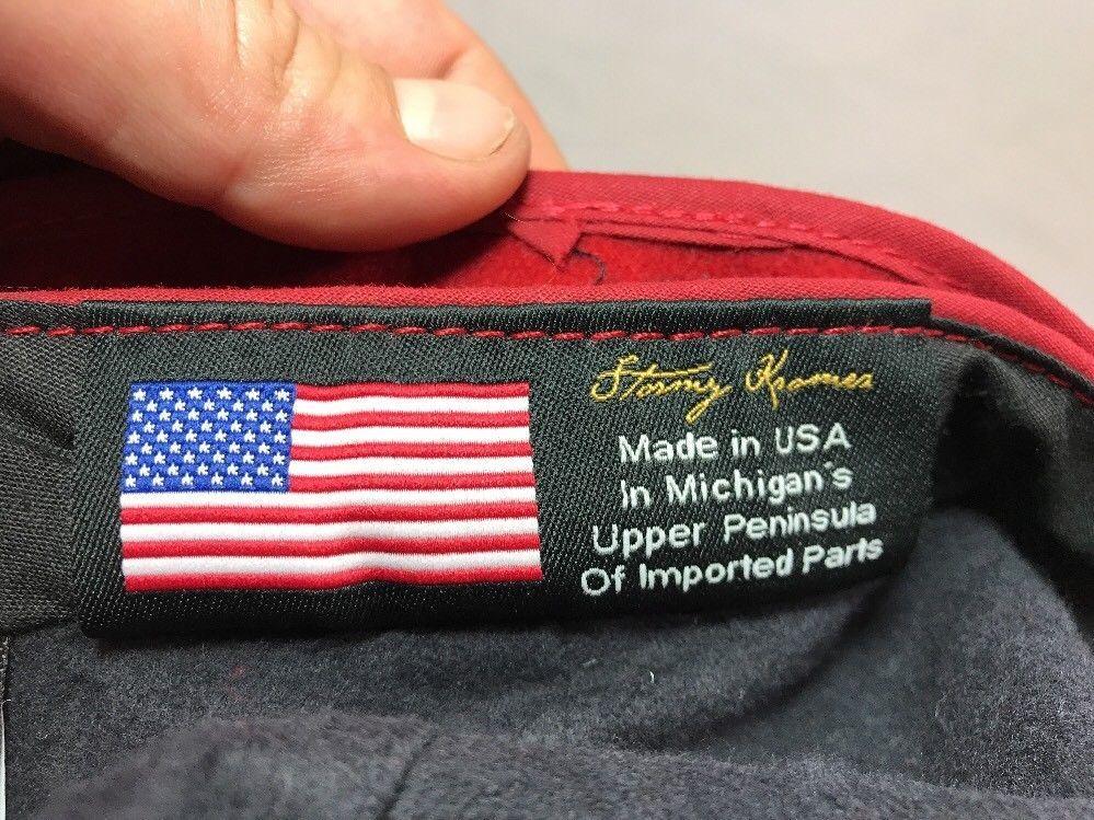 Stormy Kromer Cap Red Black Sz Wool Made in USA Hat Baseball Engineer 6 7/8 image 4