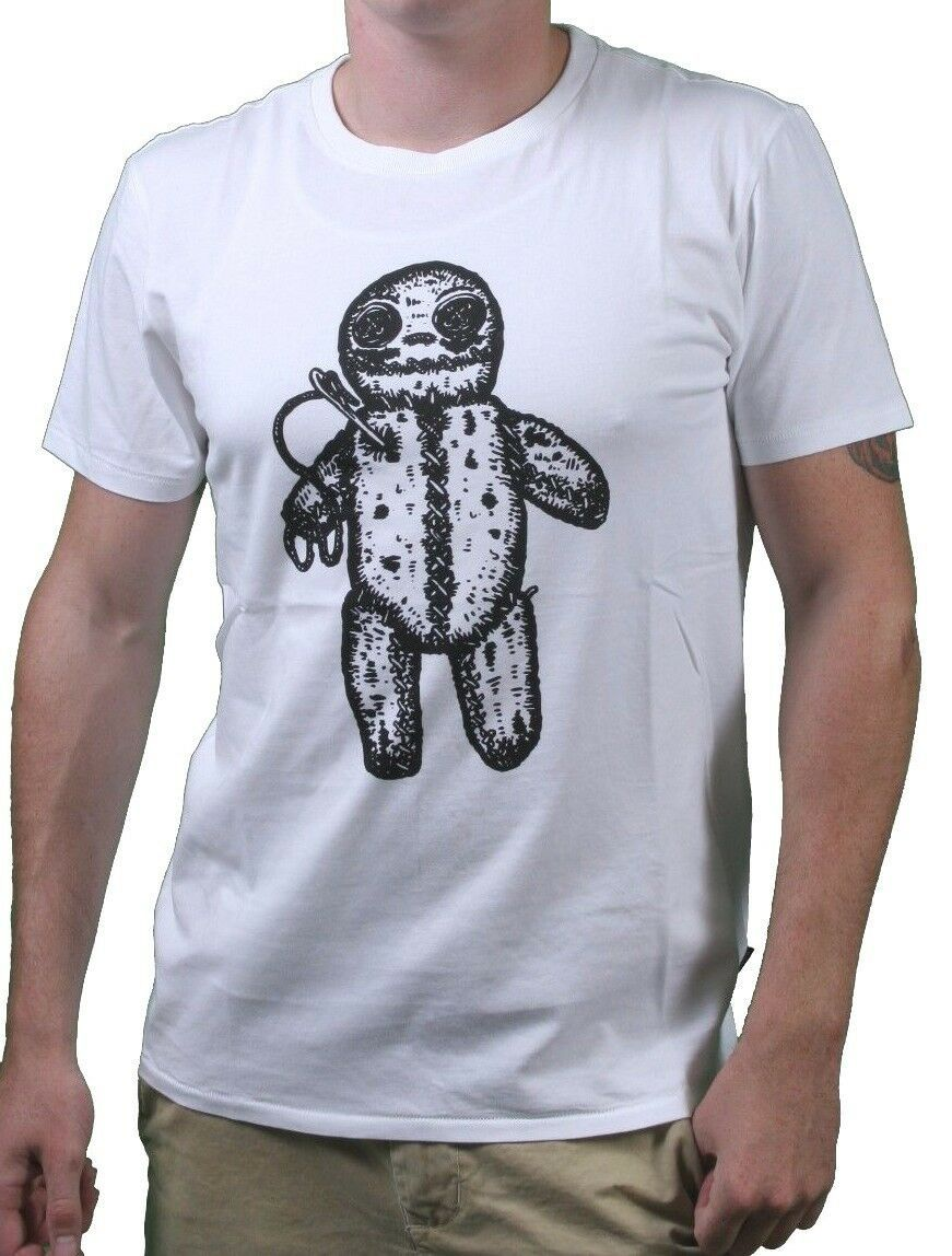 WeSC We Are Superlative Conspiracy Mens White Voodoo Doll Revenge T-Shirt NWT