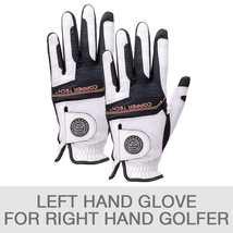 2 Pack Copper Tech Golf Gloves for Right Handed Compression Fit One Size - $28.22