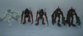 Lot Of 5 mcdonalds Lego Bionicle Toy Figures 2006-2007 - $9.89