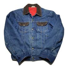 Vintage Key Imperial Denim Blanket Quilted Barn Coat Work Jacket Fits Me... - $34.58