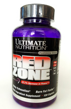 ULTIMATE NUTRITION RED ZONE 120 capsules fat burner loss weight diet sli... - $33.02