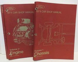 1974 FORD CAR Shop Manual Vol 1 Chassis & Vol 2 Engine 2nd Printing -Cle... - $13.10