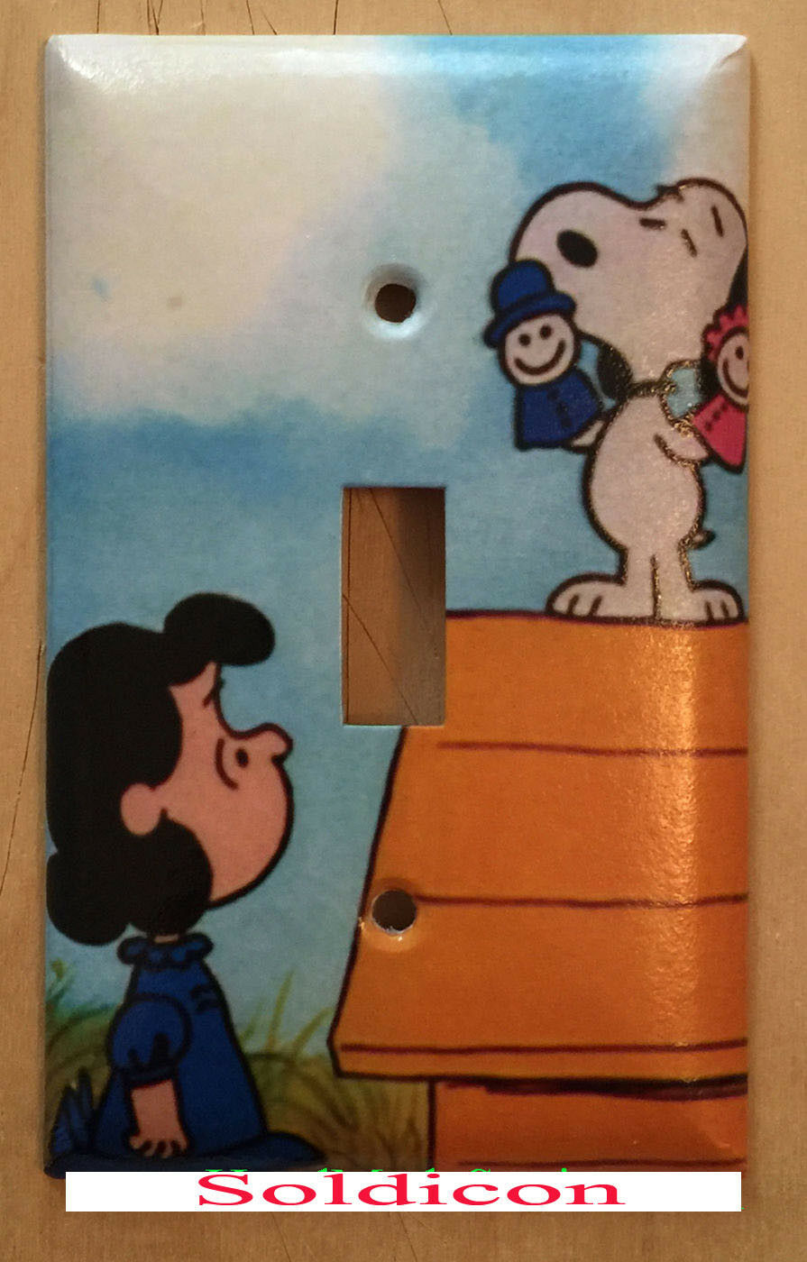 Peanuts Snoopy Lucy Light Switch Power Duplex Outlet Cover Plate Home decor