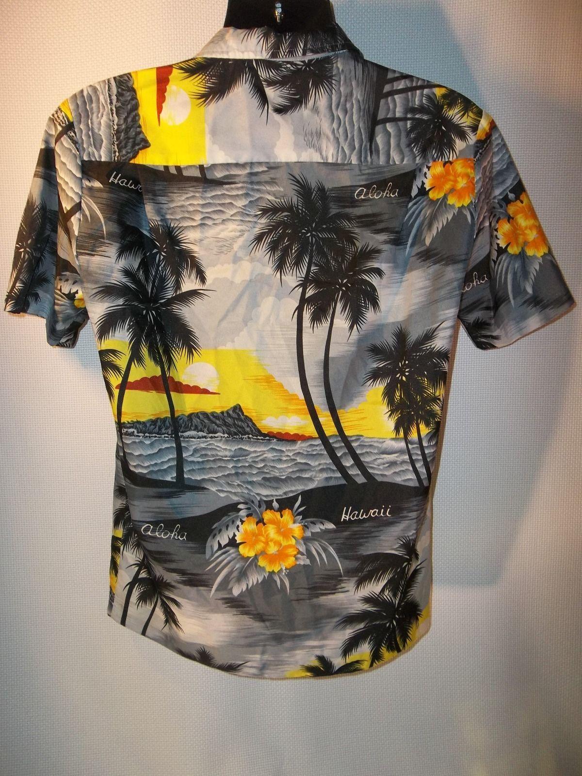 Hawaiian,Tropical, Button Front, Shirt by Royal Creations, Hawaii, Size S