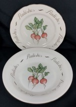 Franciscan Vegetable Medley RADISHES Luncheon Plate and Pasta Bowl Johns... - $29.65