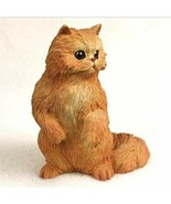 PERSIAN RED CAT Figurine Statue Hand Painted Resin Gift - $19.99