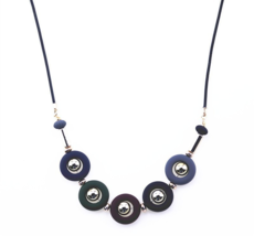 New Choker Necklace Fashion Ethnic Color Bead Round Pendant - $9.99