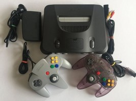 Nintendo 64 N64 Console Bundle with 2 Controllers and Cables - $69.24
