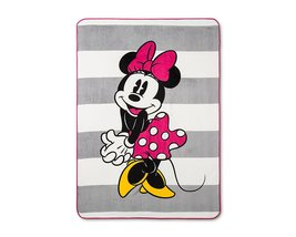 Minnie Mouse Pink & White Bed Blanket (Twin) 62 x 90 - $56.99