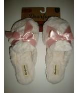 Dearfoams Women's Memory Foams House Slide Slippers Ivory Faux Fur Large... - $25.73