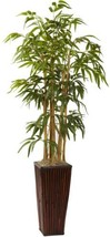 Nearly Natural 4-Foot Bamboo With Decorative Planter - €97,51 EUR