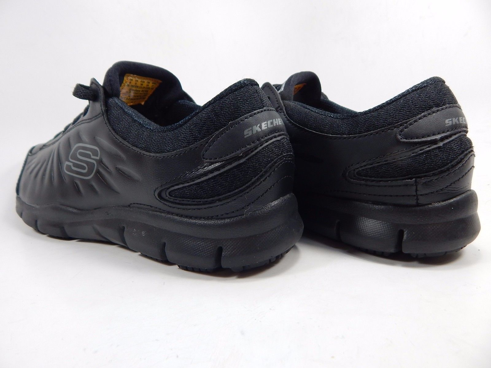Skechers Eldred SR Relaxed Fit Women's Work Shoes Size: US 8 D WIDE EU 38 Black