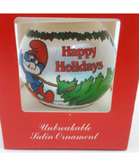 The Smurf Collection Happy Holidays Satin Christmas Ornament - $17.46