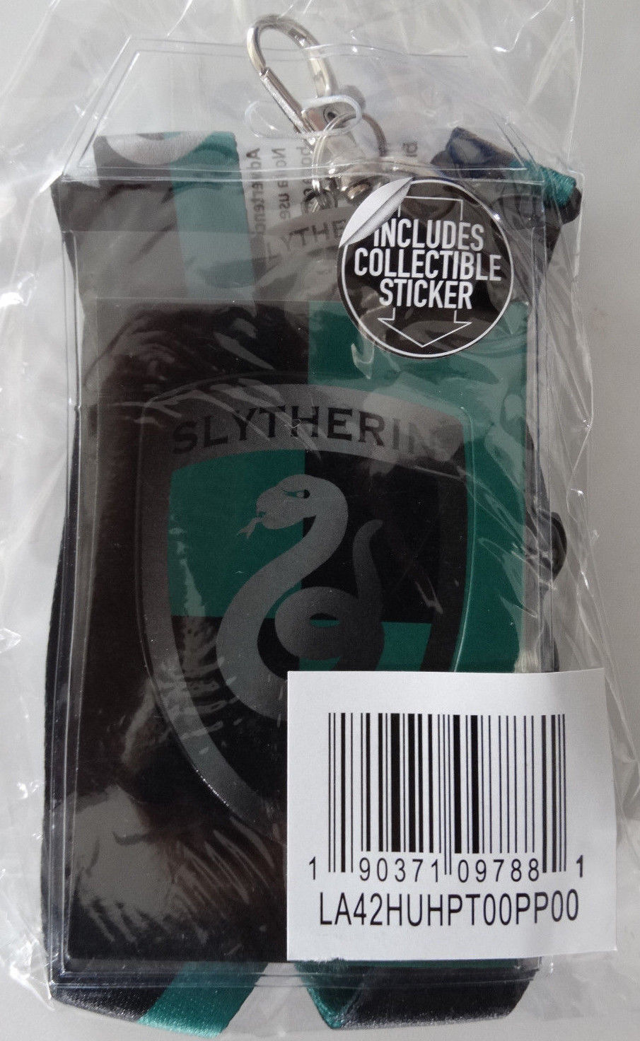 Harry Potter Slytherin School ID Badge Holder Keychain Lanyard