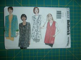 Butterick 6412 Size 14 16 18 Misses' Miss Petite Jacket Vest Very Easy - $11.64
