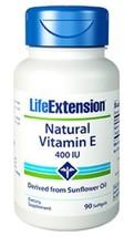 TWO BOTTLES Life Extension Super Vitamin E 400 IU 90 softgels antioxidant - $33.65