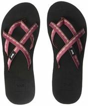 Teva Women's W MUSH Mandalyn Wedge Ola 2 Flip-Flop, Chisolm Port red, 7 Medium U - $29.09