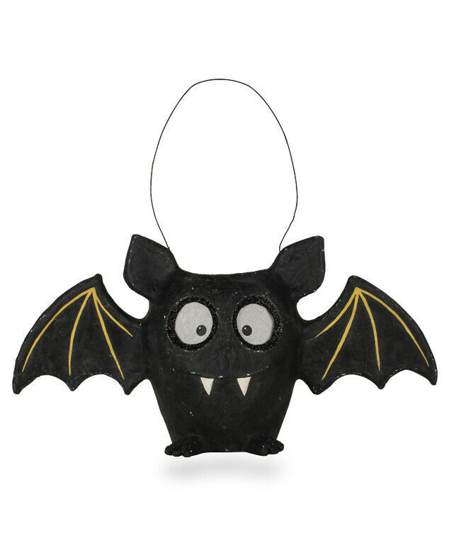 "Primary image for NEW 2019 Bethany Lowe Designs Halloween ""Bat Bucket"" Paper Mache TD8657"