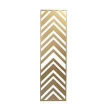 Metal Rectangular Chevron Wall decor , Gold - $56.28