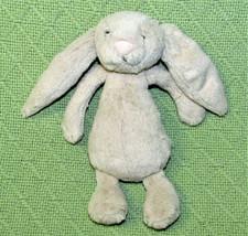 """8"""" JELLYCAT RABBIT Bashful Bunny Plush Stuffed Animal Soft Grey Champagn... - $18.70"""