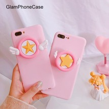 GlamPhoneCase Little Star Wings Telescopic Bracket Cell Phone Case for i... - $16.77