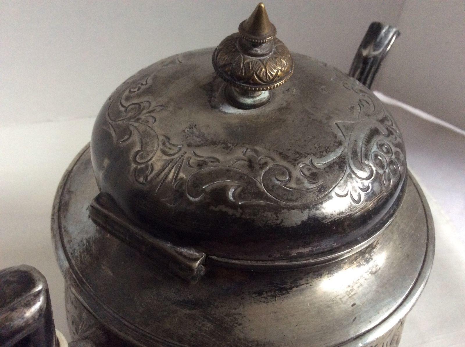 Antique AB&Co Albert J. Beardshaw Sheffield England 1860's silverplate teapot