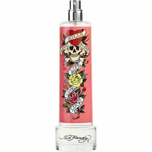 Ed Hardy Pink Perfume By Christian Audigier 3 4 Oz Edp Spray For Women New: Tester Perfume ED HARDY By Christian Audigier EDP SPRAY 3.4 OZ