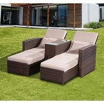 Garden Companion Sunlounger Pool Patio Deck Love Sun Bed Sofa & Stool Ra... - $826.05