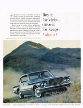 Vintage 1961 Magazine Ad Chrysler Valiant Buy It For Kicks Drive It For Keeps - $5.93