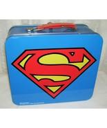 Superman Metal Lunchbox DC Comics and Warner Bros. Large Size Vintage - $42.06