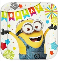 Despicable Me Minions Lunch Dinner Plates 8 Per Package Birthday Supplies - $4.84