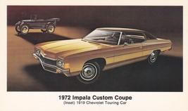 1972 ChevroletImpala CustomCoupe, Dealer Promo Postcard - $6.99