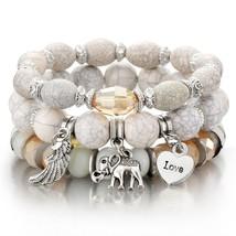 amazing price 3-4pcs/set Fashion Boho Bracelets & Bangles Women Beaded B... - $12.66