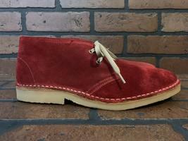 Hunter Twickenham Chukka Boots Red Suede Size 8 - €100,76 EUR