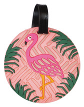 Flamingo Airline Travel Luggage Tag Cruise Ship Silicone Rubber Bag Name - $13.00