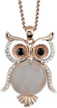 Latigerf Jewelry Women's Lucky Owl of Night Pendant Necklace and Long Chain - $63.85