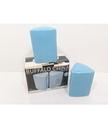 Buffalo China Oneida Blue Hawaiian Salt & Pepper Shakers NOS - $24.99