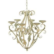 Candle Chandelier Lighting, Hanging Iron Chandelier Candle Light - Off W... - $50.58