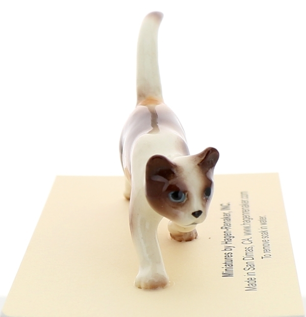 Hagen-Renaker Miniature Ceramic Cat Figurine Calico Prowling
