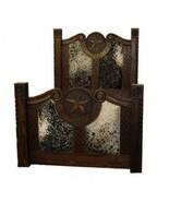 Rustic Dark Stain Cowhide Prieta Grande Bed King or Queen Cabin Lodge We... - $1,583.99+