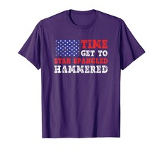 Dad Shirts - Time To Get Star Spangled Hammered T-Shirt Fourth of July Men - $19.95+