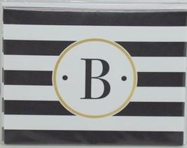 Rosanne Beck 211 1814 Folded Note Black White Striped Letter B Pkg 10 image 1