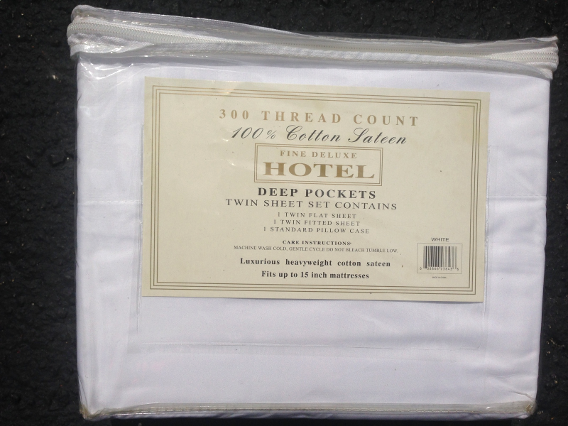 Fine Deluxe HOTEL Full Sheet Set - White