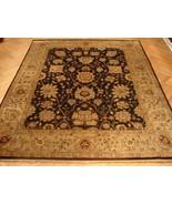 8x10 Dark Brown Jaipur Wool New Fine Quality Splendid Handmade rug - $926.10