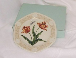 PartyLite Tulip Candle Plate Botanical Collection Porcelain Dishwasher S... - $14.80