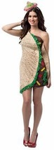 Taco Foodie Costume Dress Adult Womens Food Halloween Party Unique Cheap... - $58.99