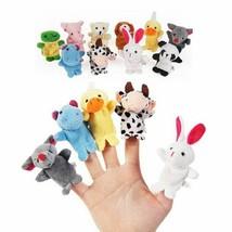 Finger Puppet 10PCS Christmas Birthday Gift Cartoon Animal Plush Toy Chi... - $8.59