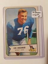 1954 Bowman #85 Lou Creekmur SP : Detroit Lions - $33.20